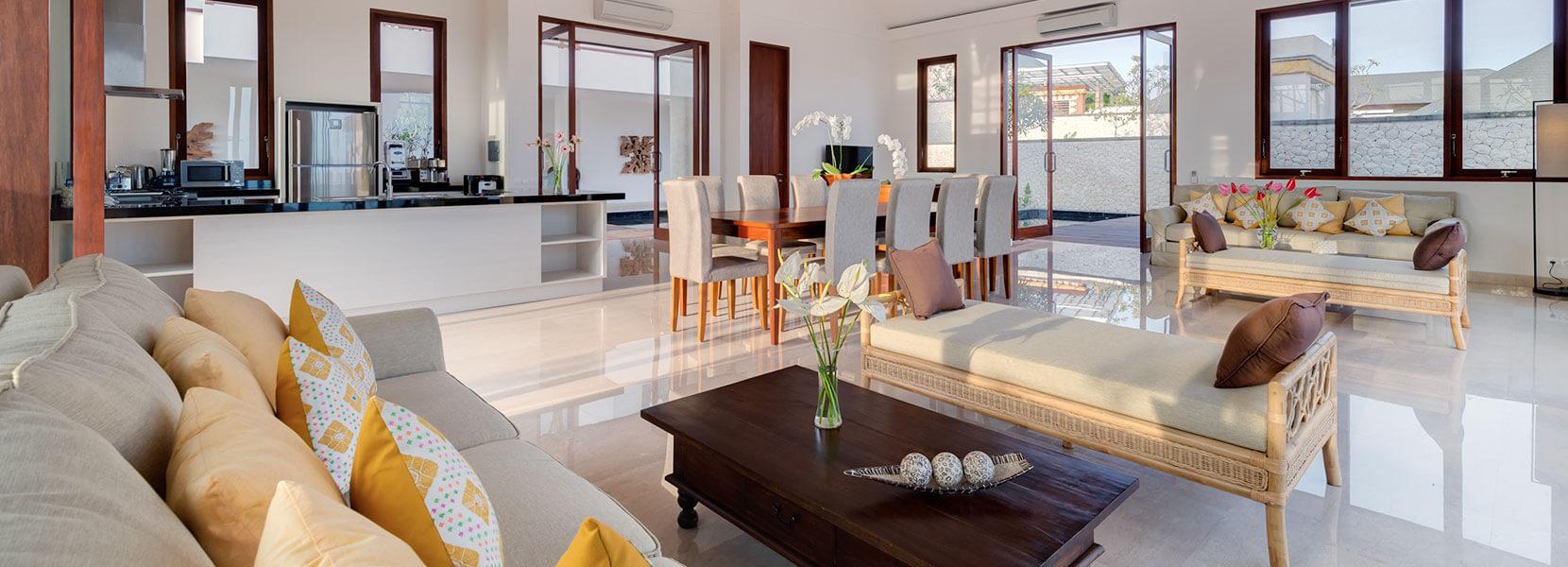 Pandawa Cliff Estate - Villa Marie - Living area