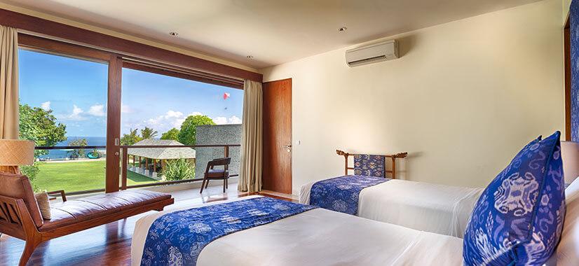 Pandawa Cliff Estate - Villa Markisa - Guest twin bedroom
