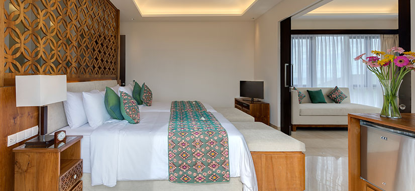 Pandawa Cliff Estate - The Pala - Upstairs twin bedroom