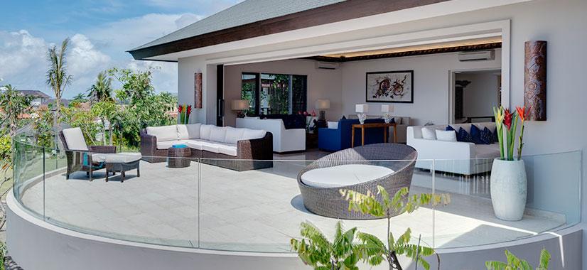 Pandawa Cliff Estate - The Pala - Sea facing balcony